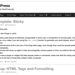 WordPress - Inkblot theme